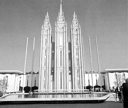 Mormon pavilion featured three towers  1964 Worlds Fair  NY